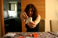 """Story Cubes – The players roll 9 dice that have pictures on them, and then improvise a coherent story starting with """"Once upon a time...""""."""