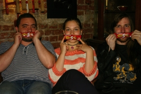 Three of the most enthusiastic visitors won a special bar of chocolate.